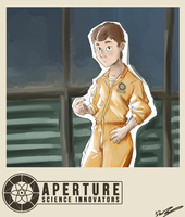Old Aperture test subject by Dr-Bowman