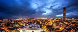 Komtar, Penang view during dusk (Pano style) by fighteden
