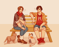 Hetalia: Romano and Veneziano | Cats by Lazorite