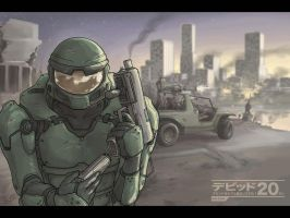 HALO fanart for BCG by Usagisama