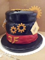 5th creation: steampunk hat chocolate cake (2/4) by Fledim