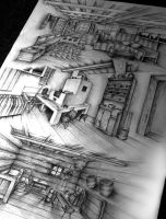 Traditional interior perspectives by ShizZuro