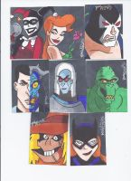 Batman Rouge cards by LarsonJamesART