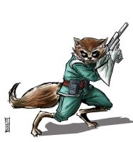 Rocket Raccoon by Supajoe