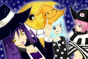 Soul Eater Witches + Blair by Migerumaru