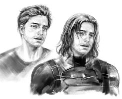 Bucky Barnes by sunsetagain