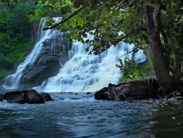 Ithaca Falls 12 by Dracoart-Stock