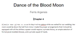 Dance of the Blood Moon: Ferris Argensis -Chapter4 by CallMeBetty