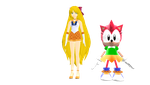 MMD - Sailor Venus and Classic Amy Rose by MarcosPower1996