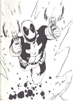 Jim Calafiore - Deadpool Full Ink by LiLPooL