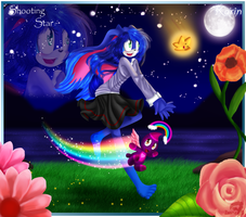 A Shooting Star - Karin and Rainbow by zaameen