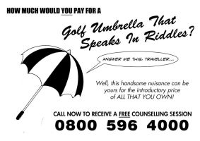 Exciting New Golf Umbrella by TomRFoster