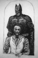 Batman and the joker by xboxrox27