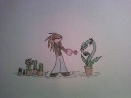 me and plants by odvie
