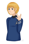 Armin as Spock by PetRockSolid