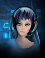 not entirely cyber girl by Darthpolly