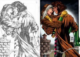 Rogue and Gambit_In Love. by Troianocomics