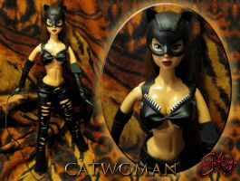 Catwoman Movie Patience Phillips Custom Doll by jvcustoms