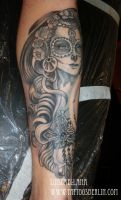 day of the dead girl tattoo 6 by mojoncio
