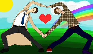 SPN Sassy Heart Pose by bad-exposition
