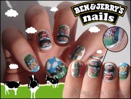 Ben and Jerry's nails by JawsOfKita-LoveHim