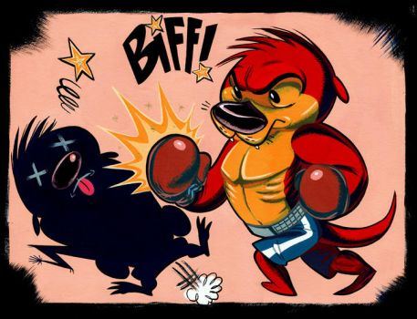 Lucco Shadow Boxing by Pocketowl