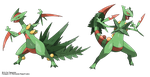 Mega-Sceptile vs Fake M-Sceptile (from me) by Tomycase