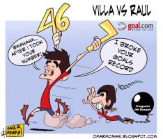 Villa vs Raul by OmarMomani