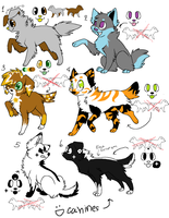 Dog Adoptables by MarbleMyst