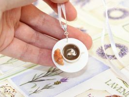 Pendant with coffee by OrionaJewelry