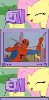 Fluttershy TV - Spidey shows by ErichGrooms3