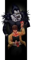 Alcohol + Smokes: Light + Ryuk by KrisCynical