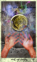 Ace of Coins:Pentacles by AnakMoon
