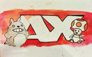 AX Commission: Toad and Totoro by SpotofInk