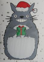 Studio Ghibli Christmas cards set 1 of 4 by LadyNin-Chan