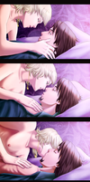 Tiger and Bunny romantic kiss by Evil---Angel