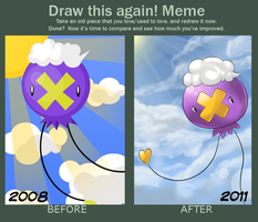Draw this again: Drifloon by CraigWM