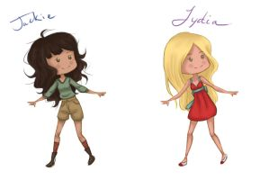 Jackie and Lydia Profiles by jennifurball