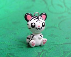 White Tiger Charm by DragonsAndBeasties