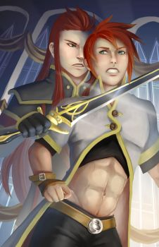 Luke vs Asch - Tales of the Abyss by Corrupted-Mooch