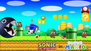 Sonic in Mario World by SPINDASH77