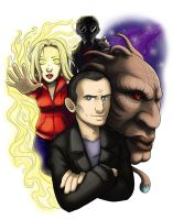Ninth Doctor Badge by ScuttlebuttInk