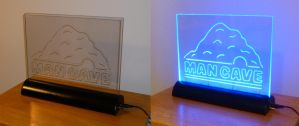 Man Cave LED Edge-Lit Sign by billybob884