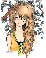 Cute Girl Colored by Valetha
