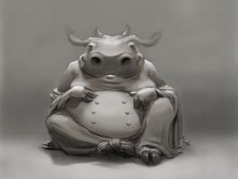 Cow Buddha by XAQT