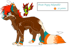 . Pirate Puppy Adopt- Closed . by HyperMuttAdoption