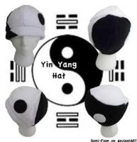 Yin Yang Fleece Hat by Demi-Plum