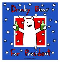 Drunky Bear for President by sebreg