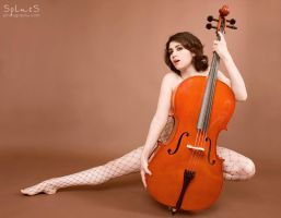 Behind the Cello by BlackRoomPhoto