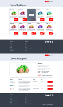 Products Results + Product Details Page Design by samadarag